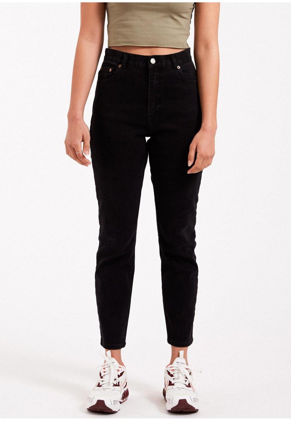 Чорні джинси Mom Nora