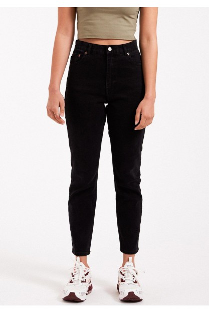 Черные джинсы Mom Nora