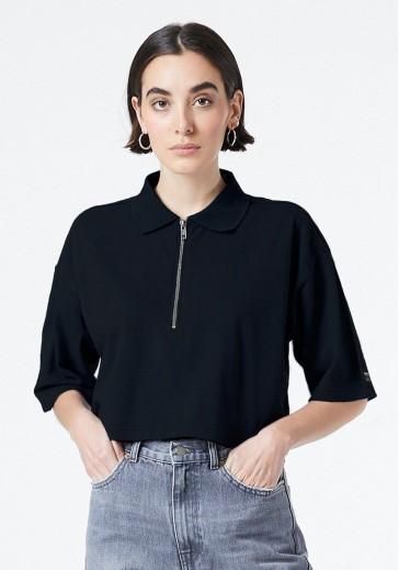 Черная футболка-поло