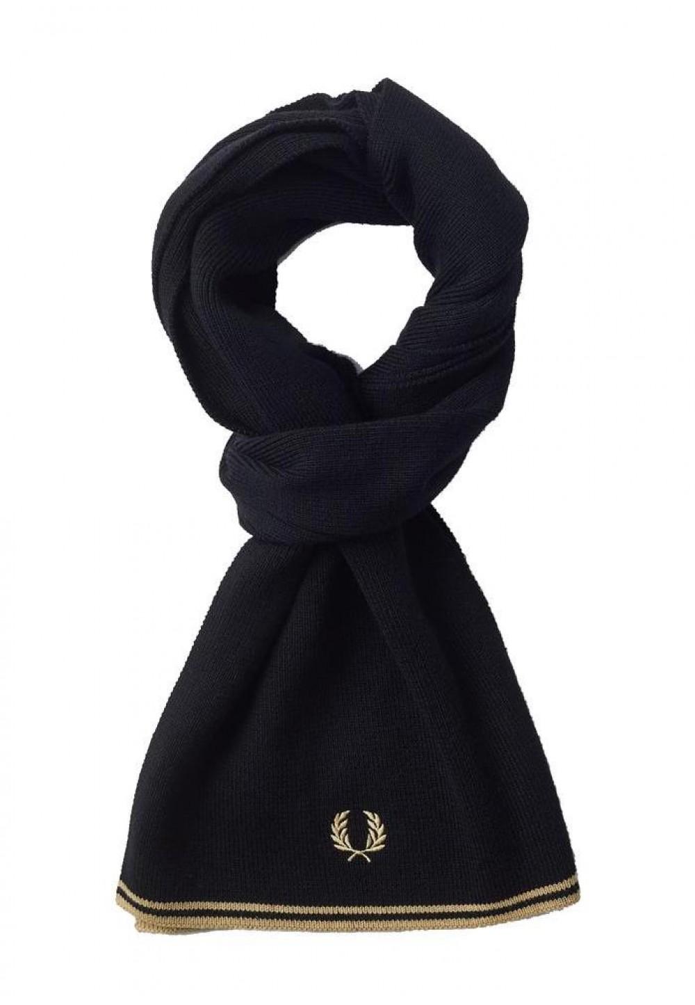 Шерстяной мужской шарф Fred Perry