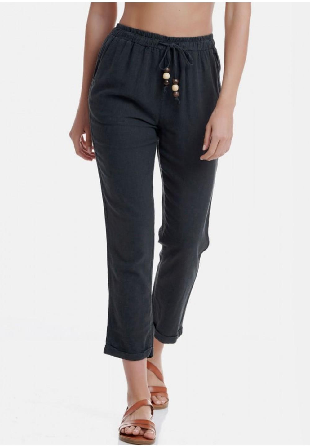 Черные свободные брюки
