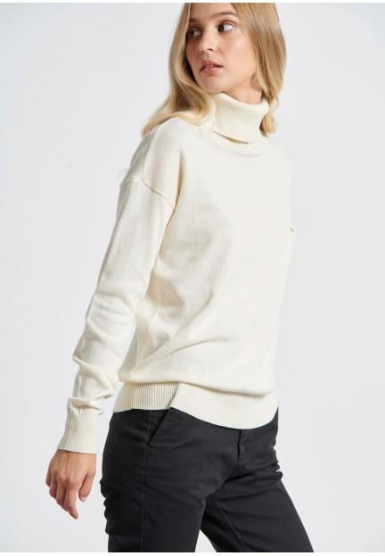 Жіночий білий пуловер
