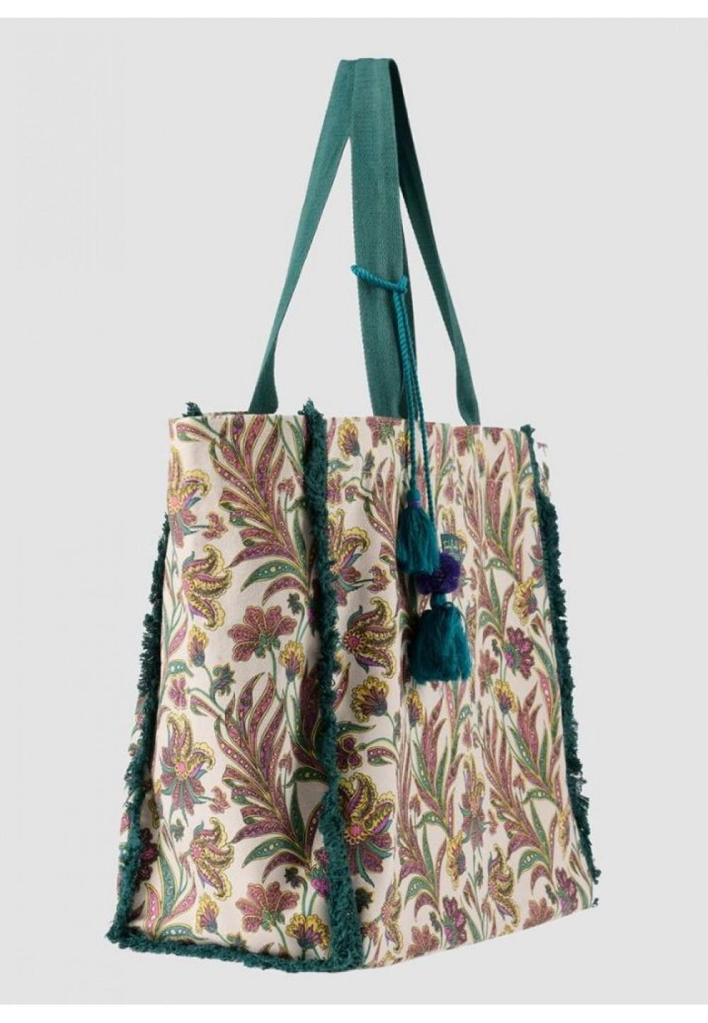 Пляжная сумка с цветочным принтом