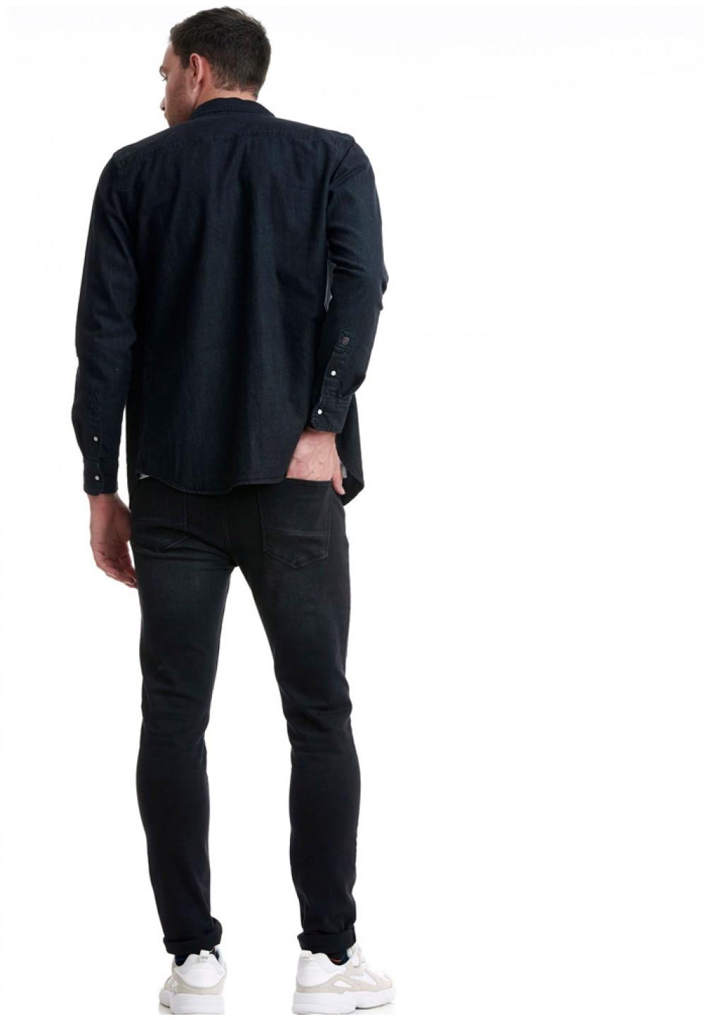 Черные мужские джинсы Slim Fit
