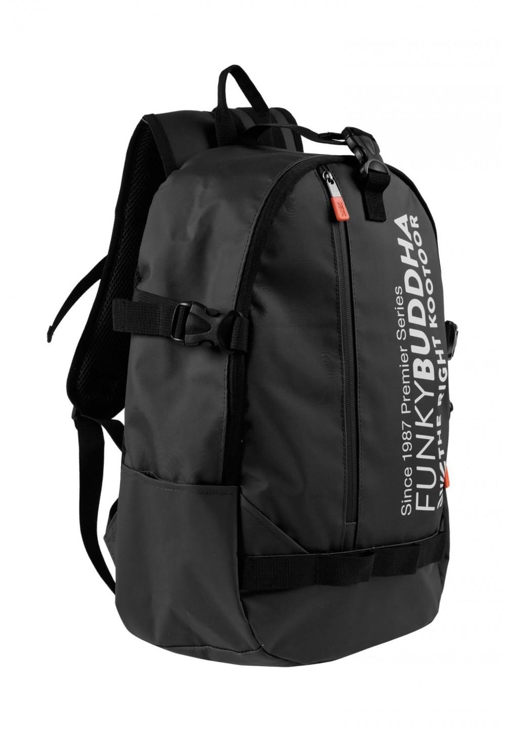 Чорний спортивний рюкзак з принтом логотипу