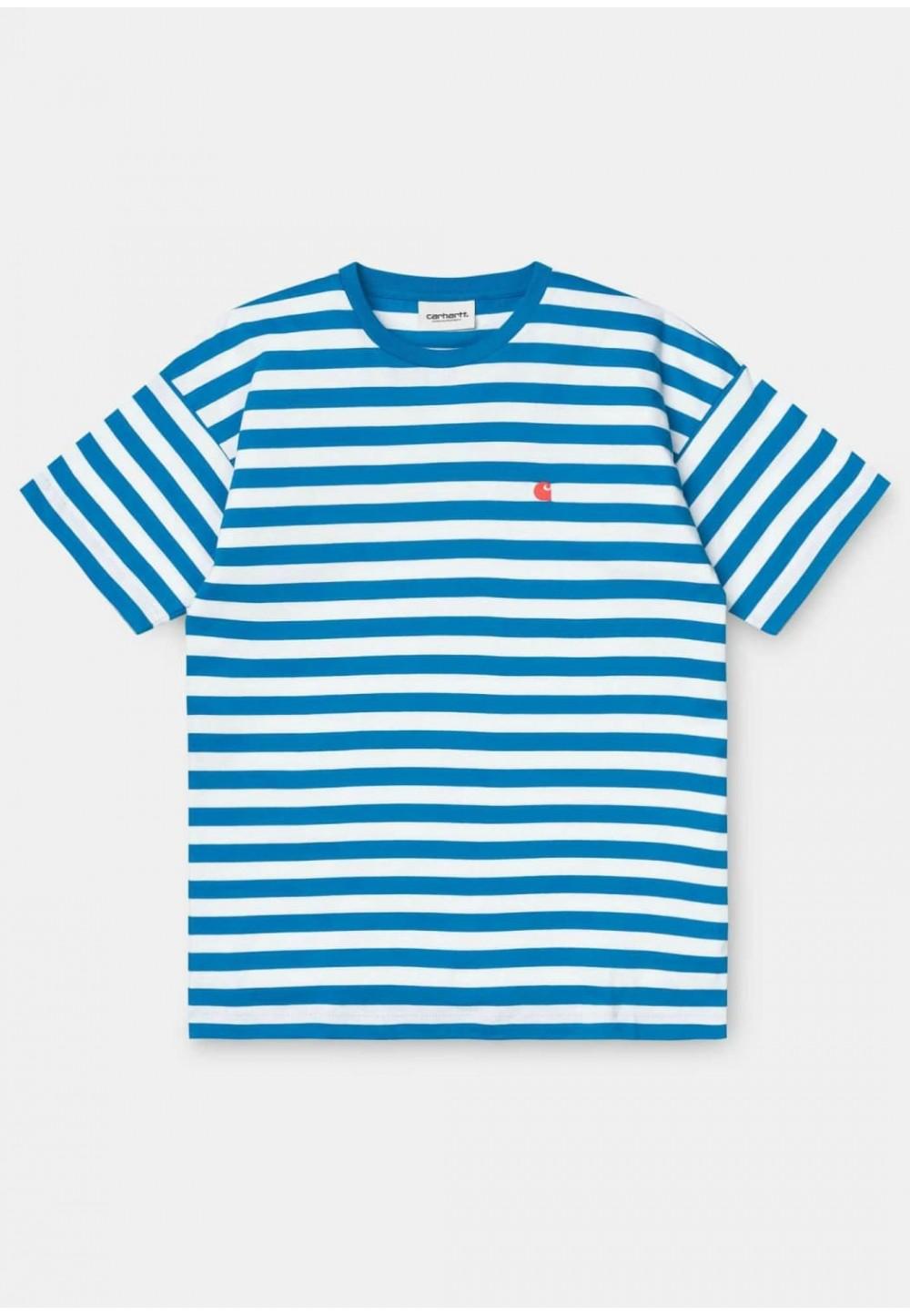 Женская футболка в голубую полоску