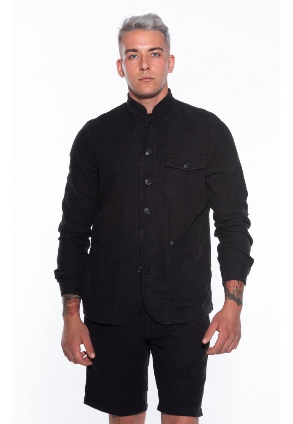 Чёрный жакет Goa Linen Layer