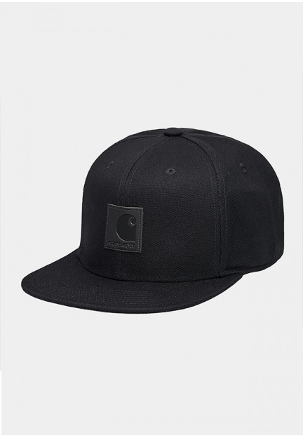 Чорна бейсболка з логотипом