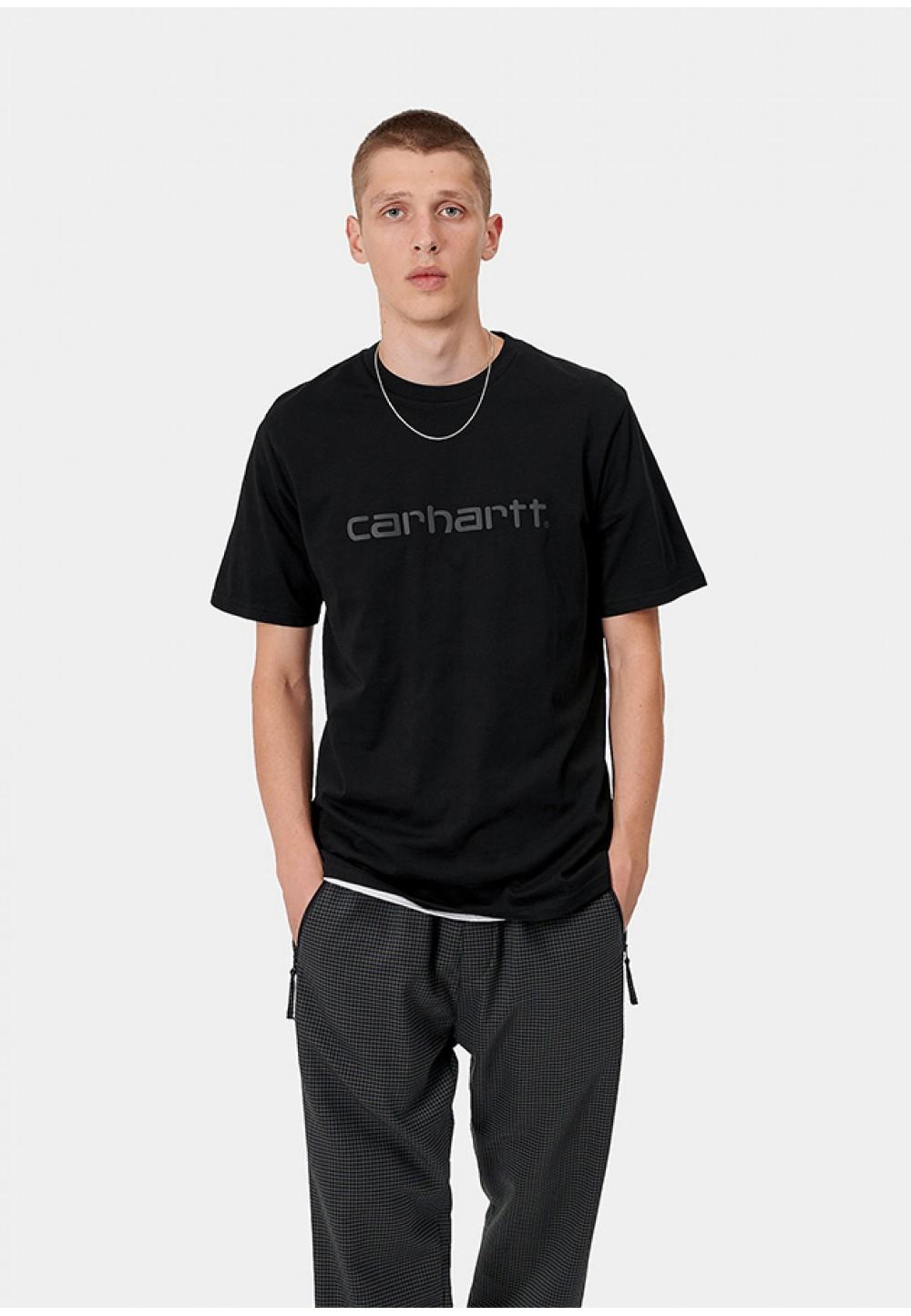 Черная футболка с логотипом