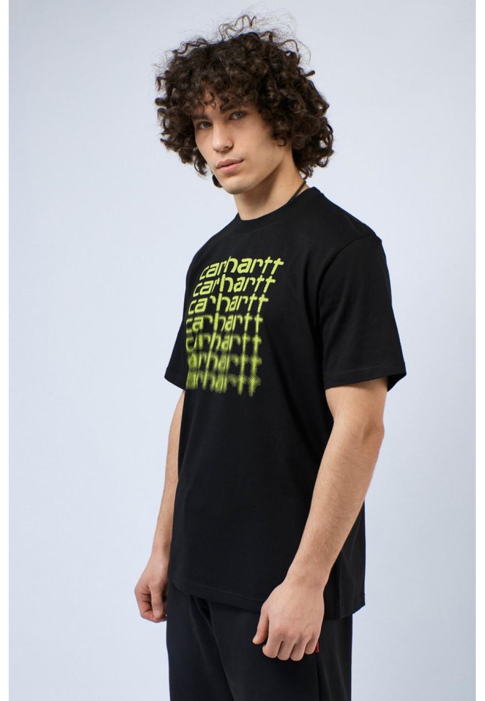 Черная футболка с принтом