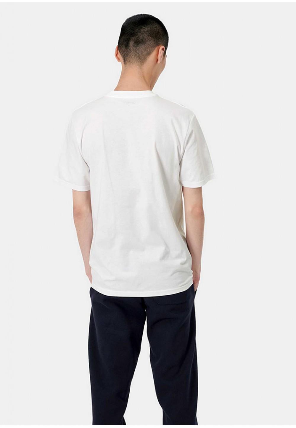 Белая футболка со светоотражающим принтом