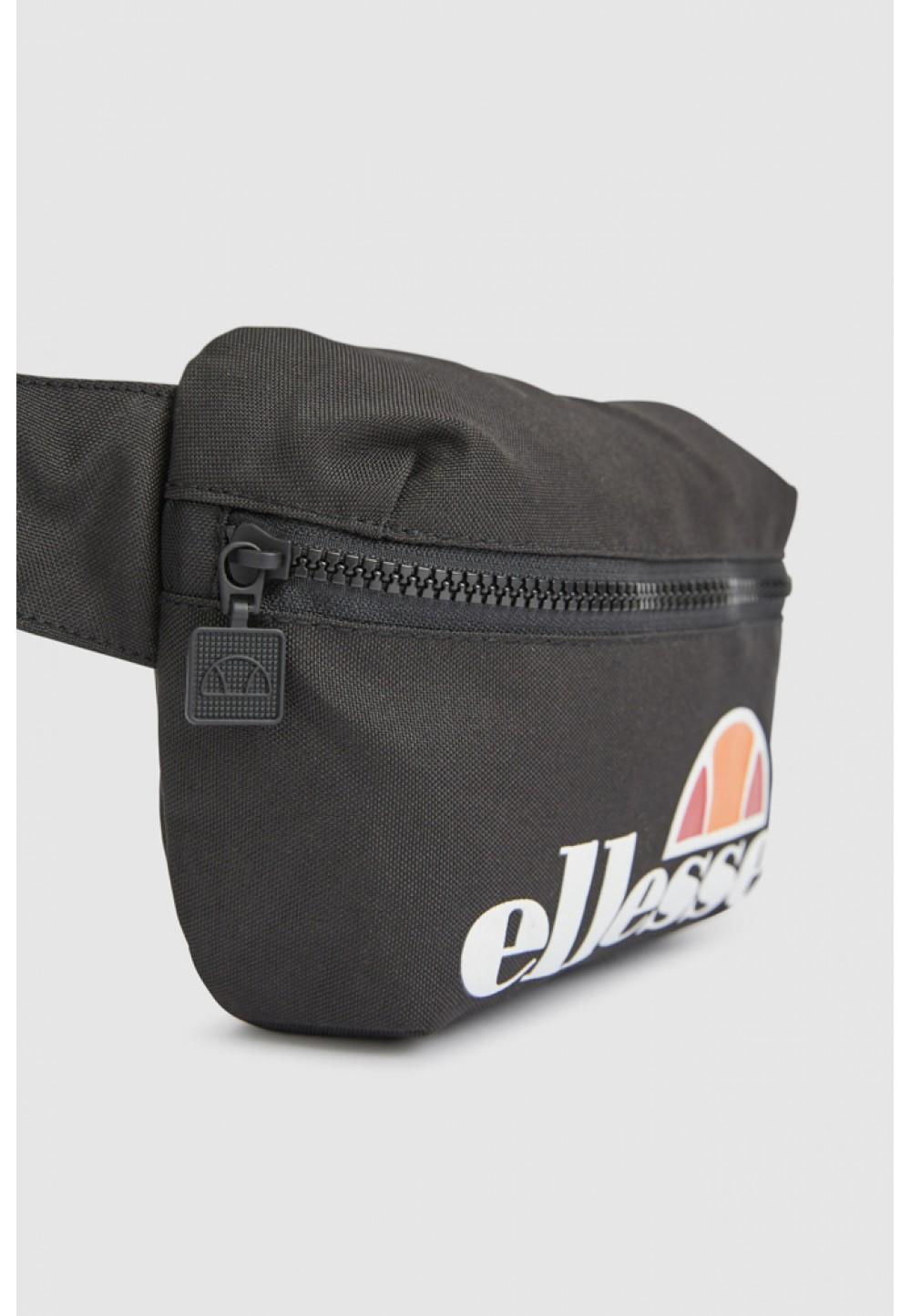 Черная сумка на пояс с логотипом