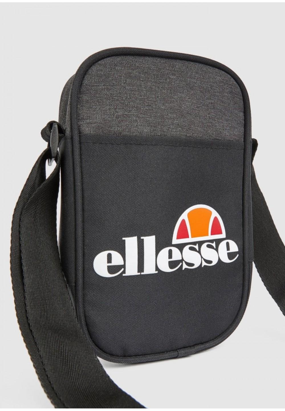 Черно-серая мужская сумка через плечо
