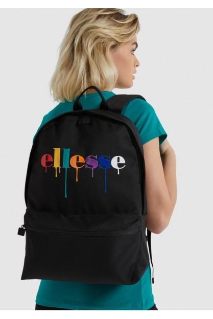 Чёрный рюкзак с разноцветным принтом