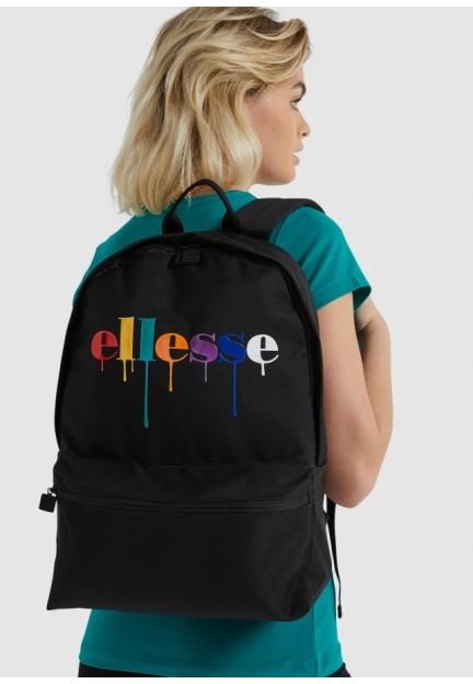 Чорний рюкзак з різнобарвним принтом