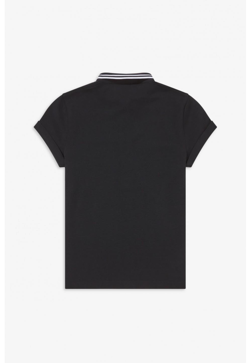 Черное поло с вышивкой