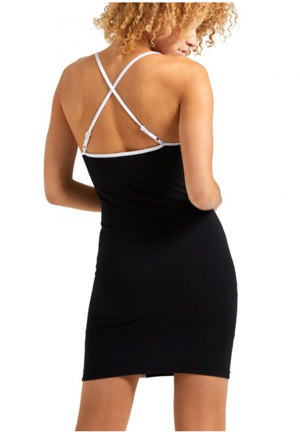 Чорна сукня-майка