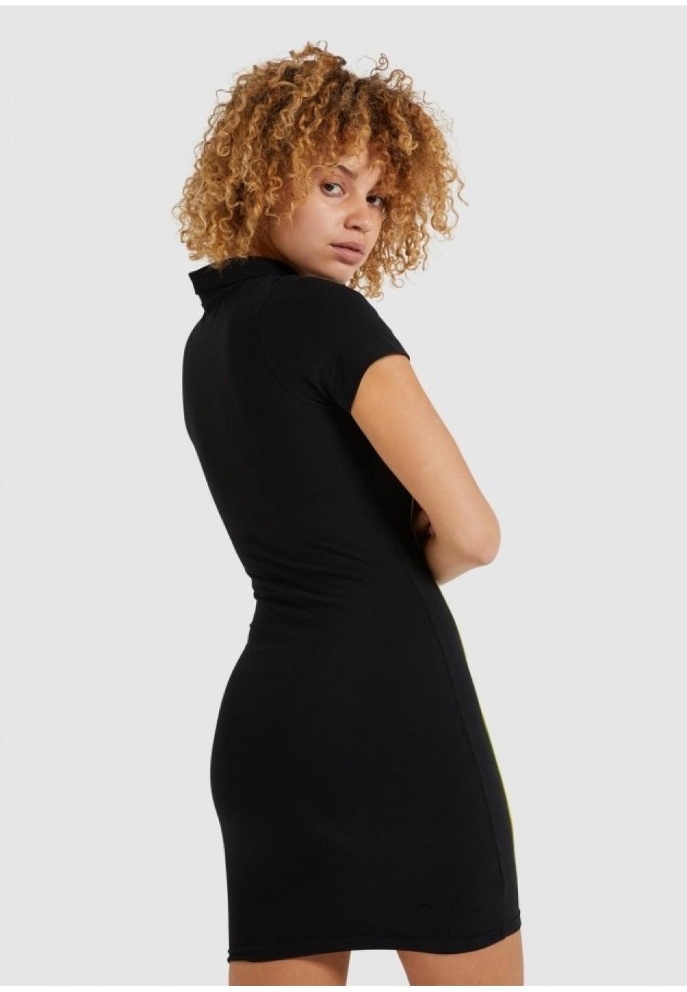 Черное cпортивное платье-поло Lara
