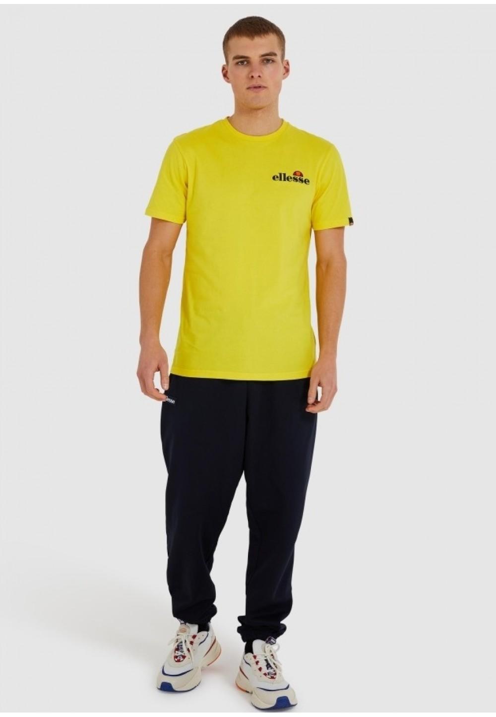 Жовта футболка з графічним принтом на спині