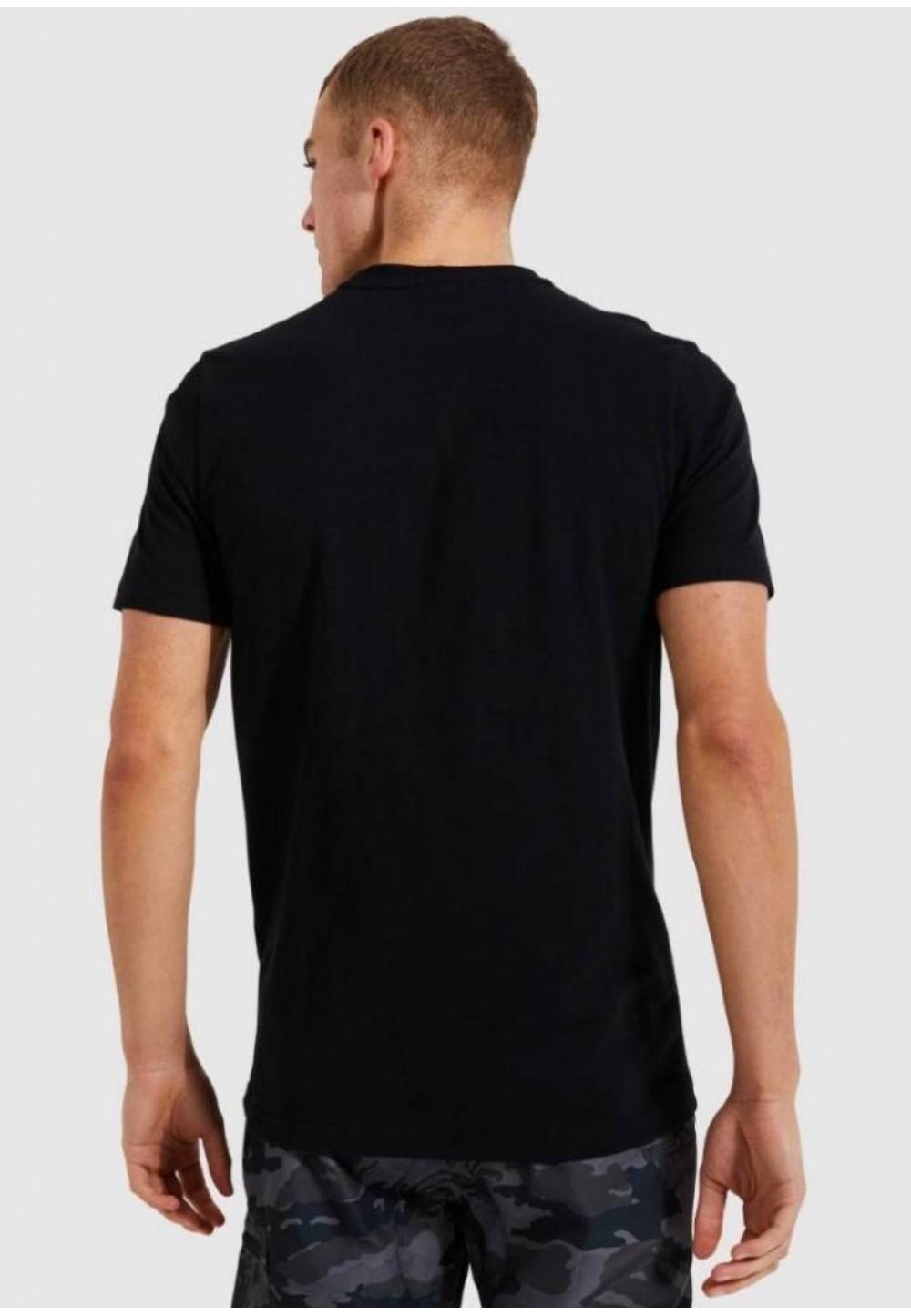 Чорна футболка з принтом
