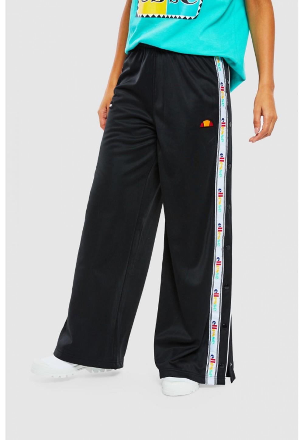 Широкие черные брюки с кнопками