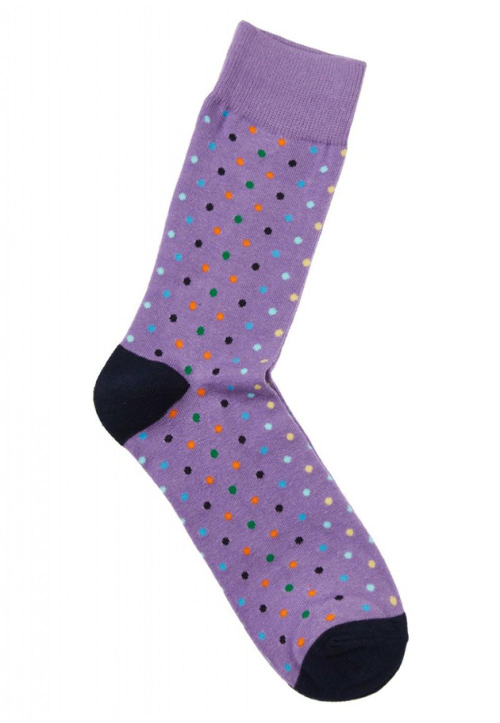 Стильные носки в горошек
