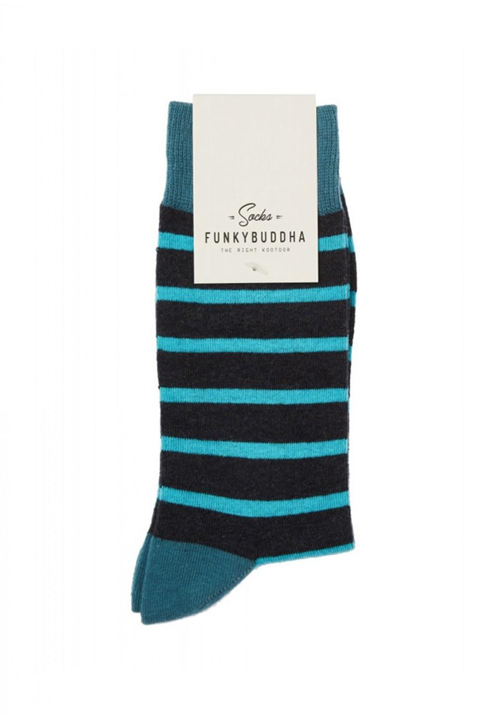 Мужские носки в синюю полоску