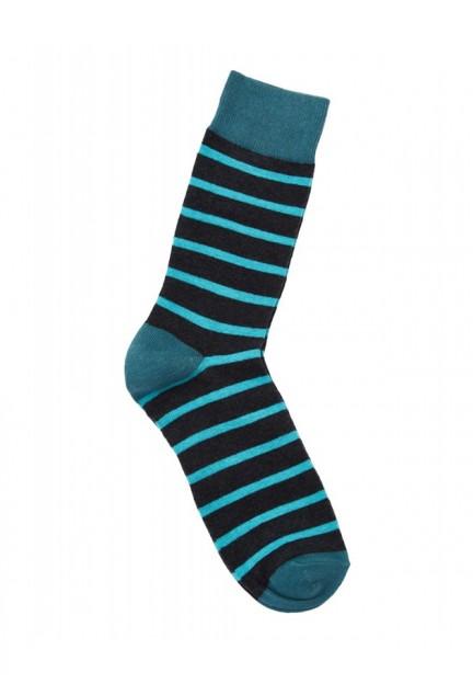 Чоловічі шкарпетки в синю смужку
