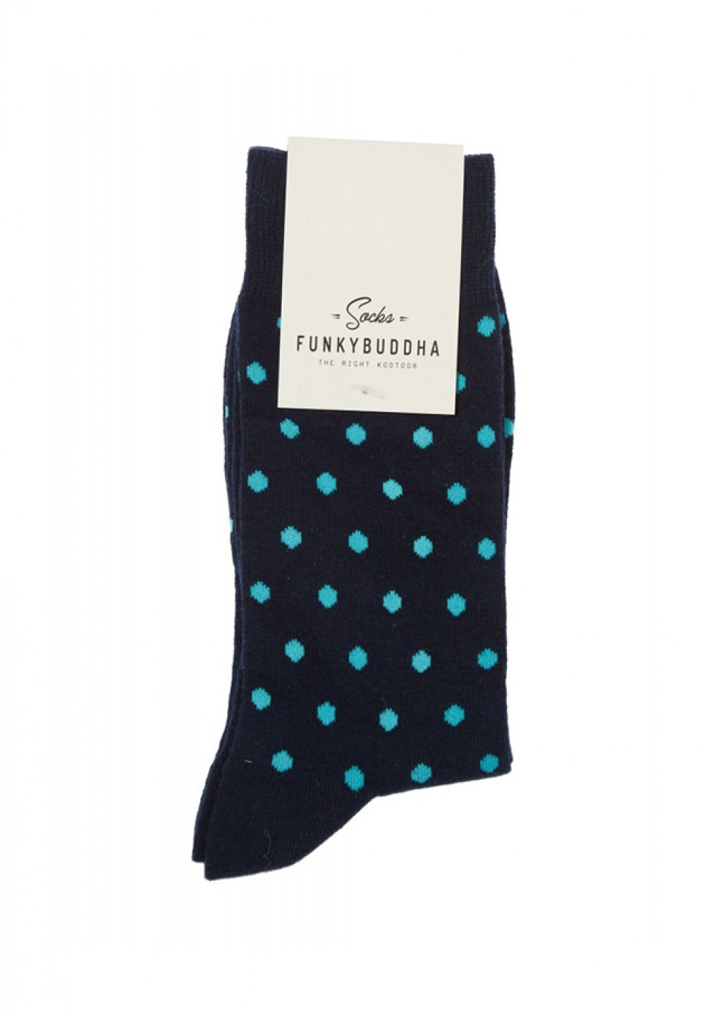 Мужские носки в синий горошек