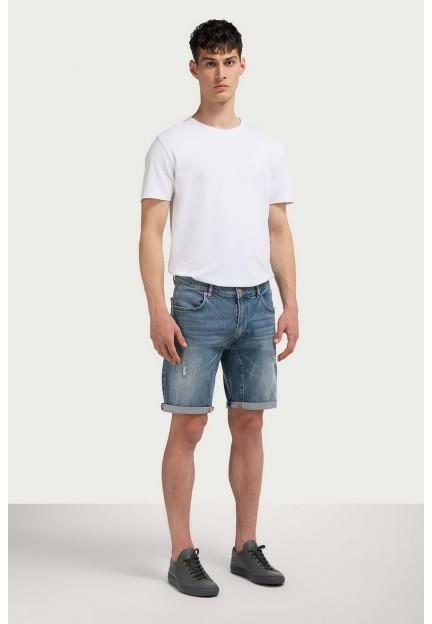 Шорты джинсовые потертые