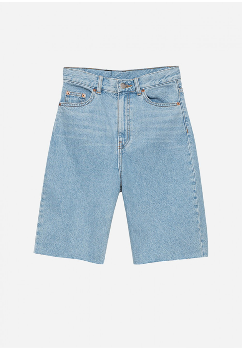 Удлиненные джинсовые шорты