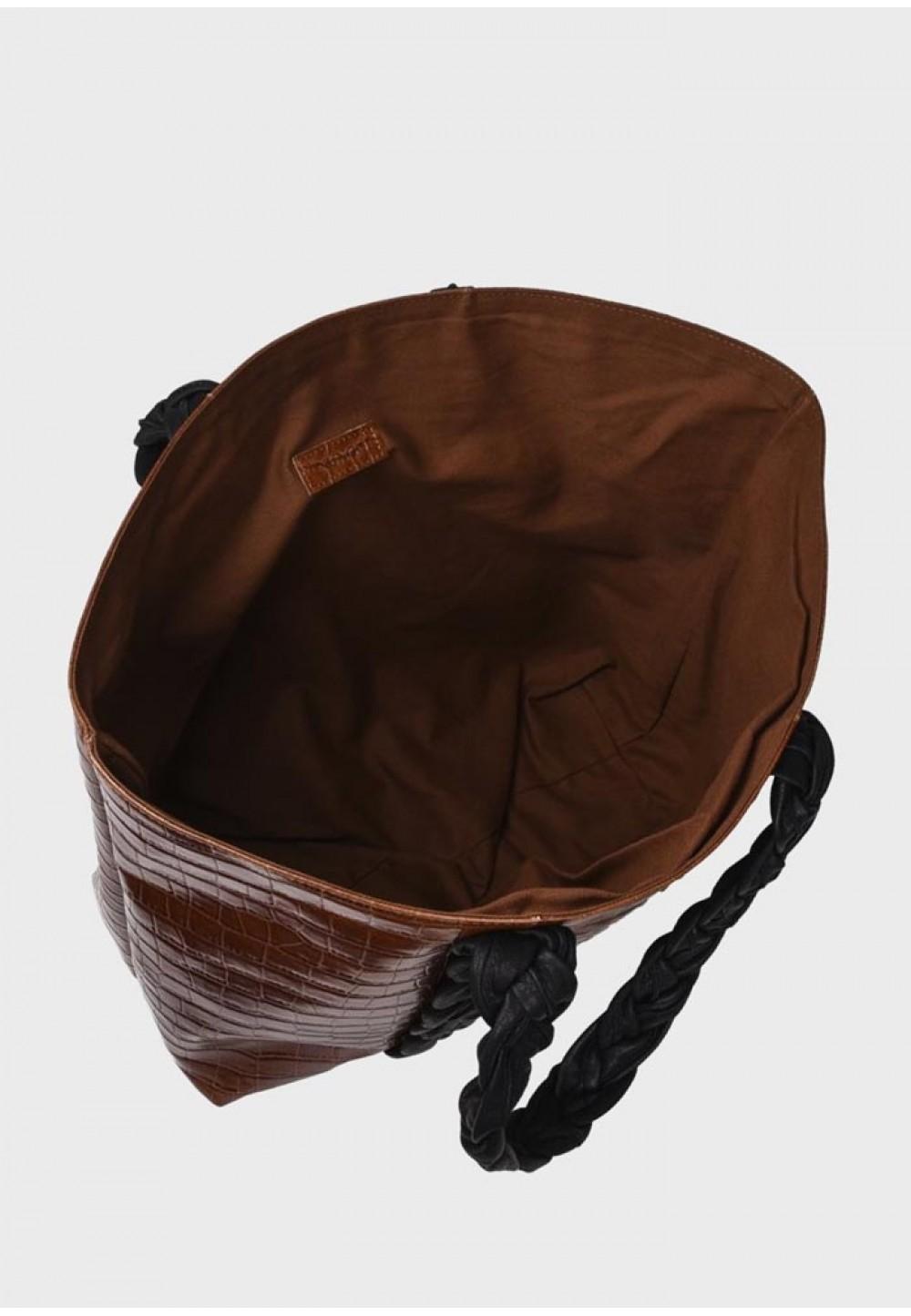 Коричневый кожаный шоппер Shopper croco