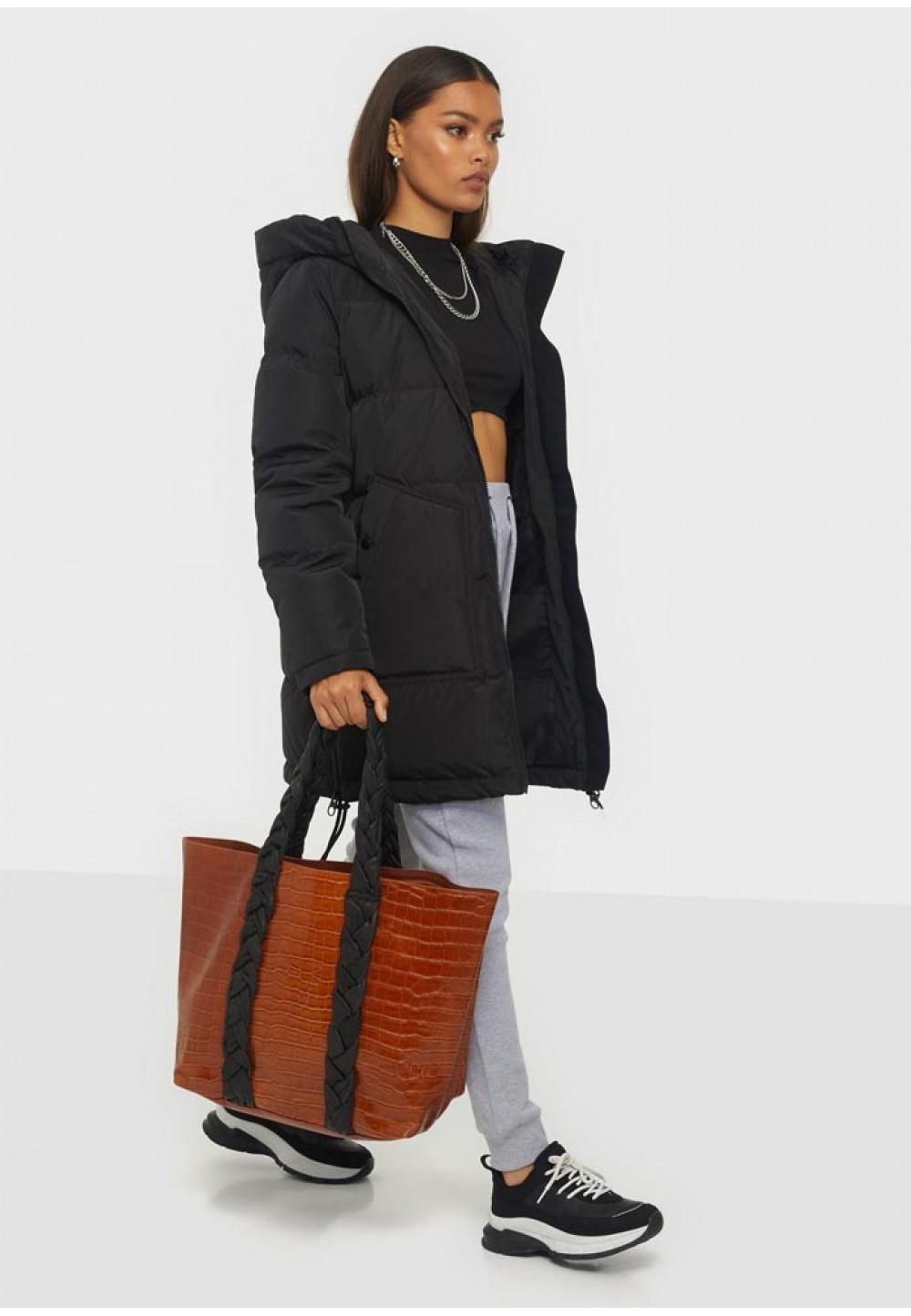 Коричневий шкіряний шоппер Shopper croco