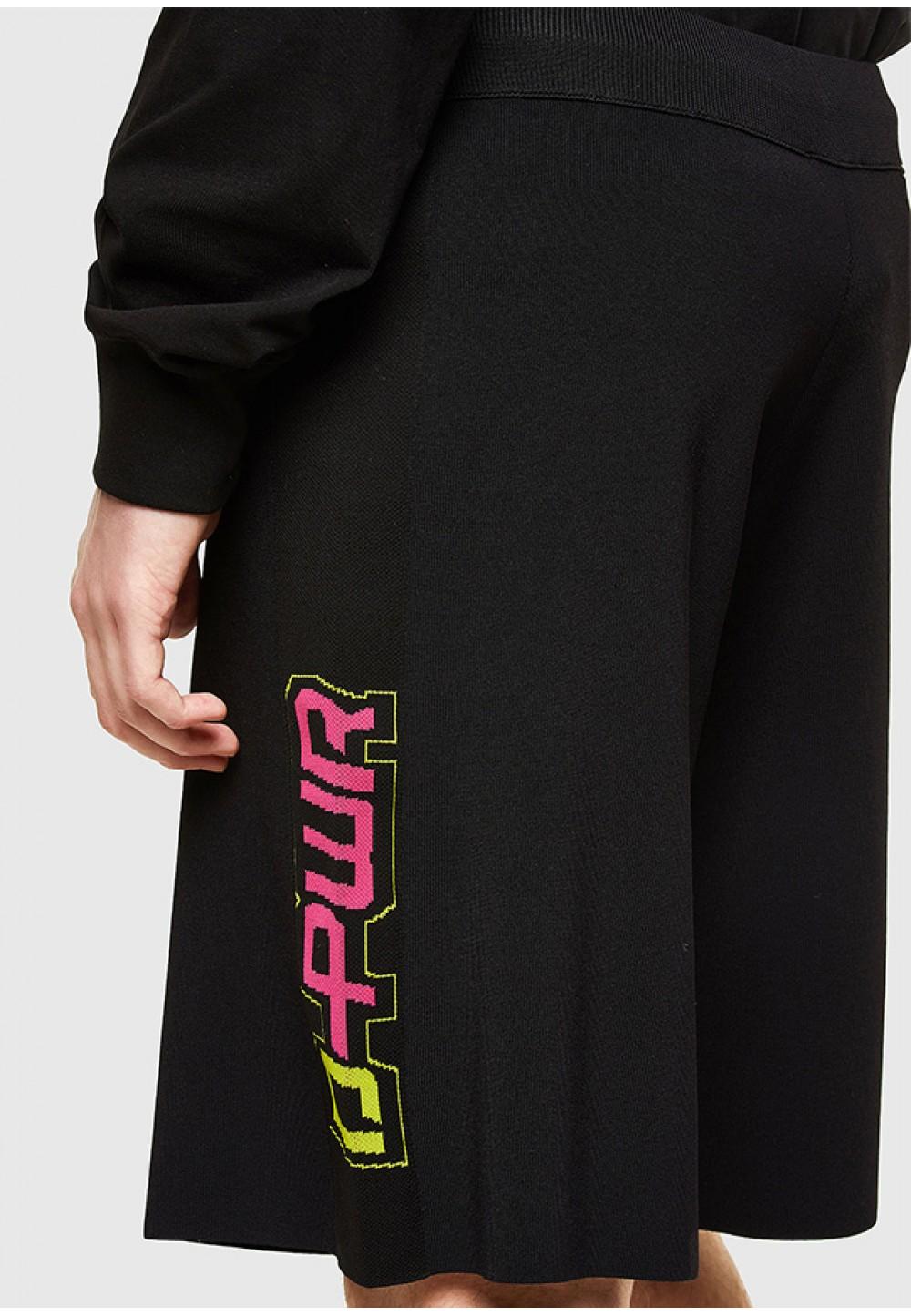 Чорні шорти з яскравим принтом