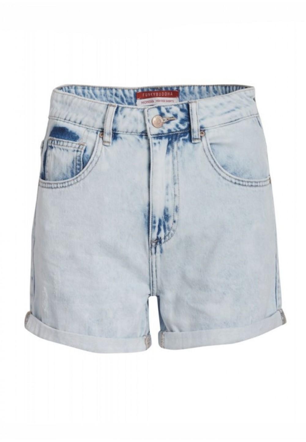 Шорты осветленный джинс