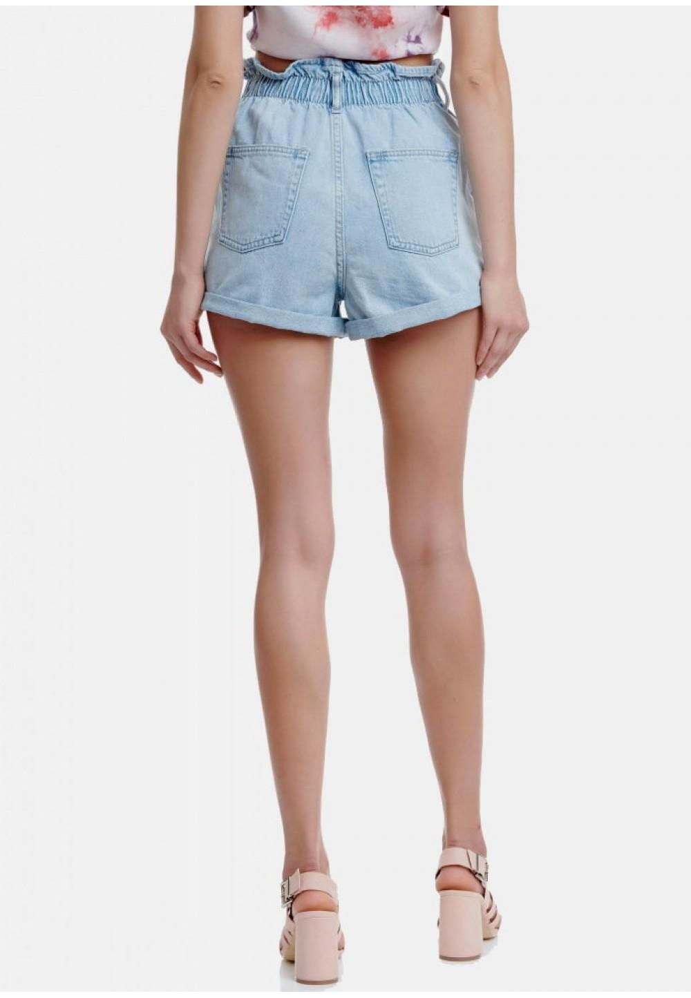 Шорты джинсовые с резинкой на поясе