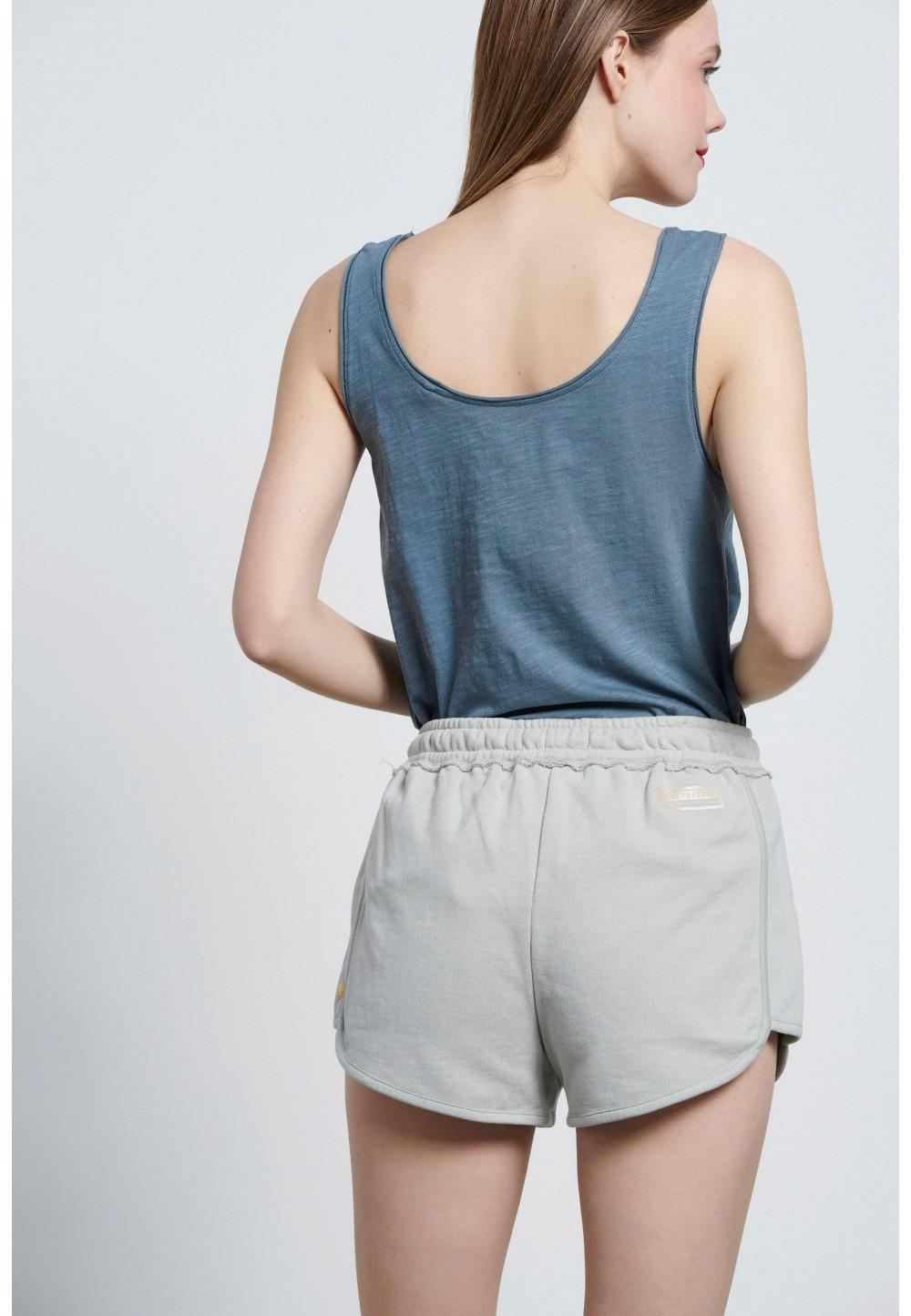 Голубые шорты-джоггеры с логотипом