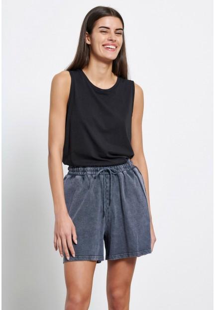 Женские серые шорты из хлопка