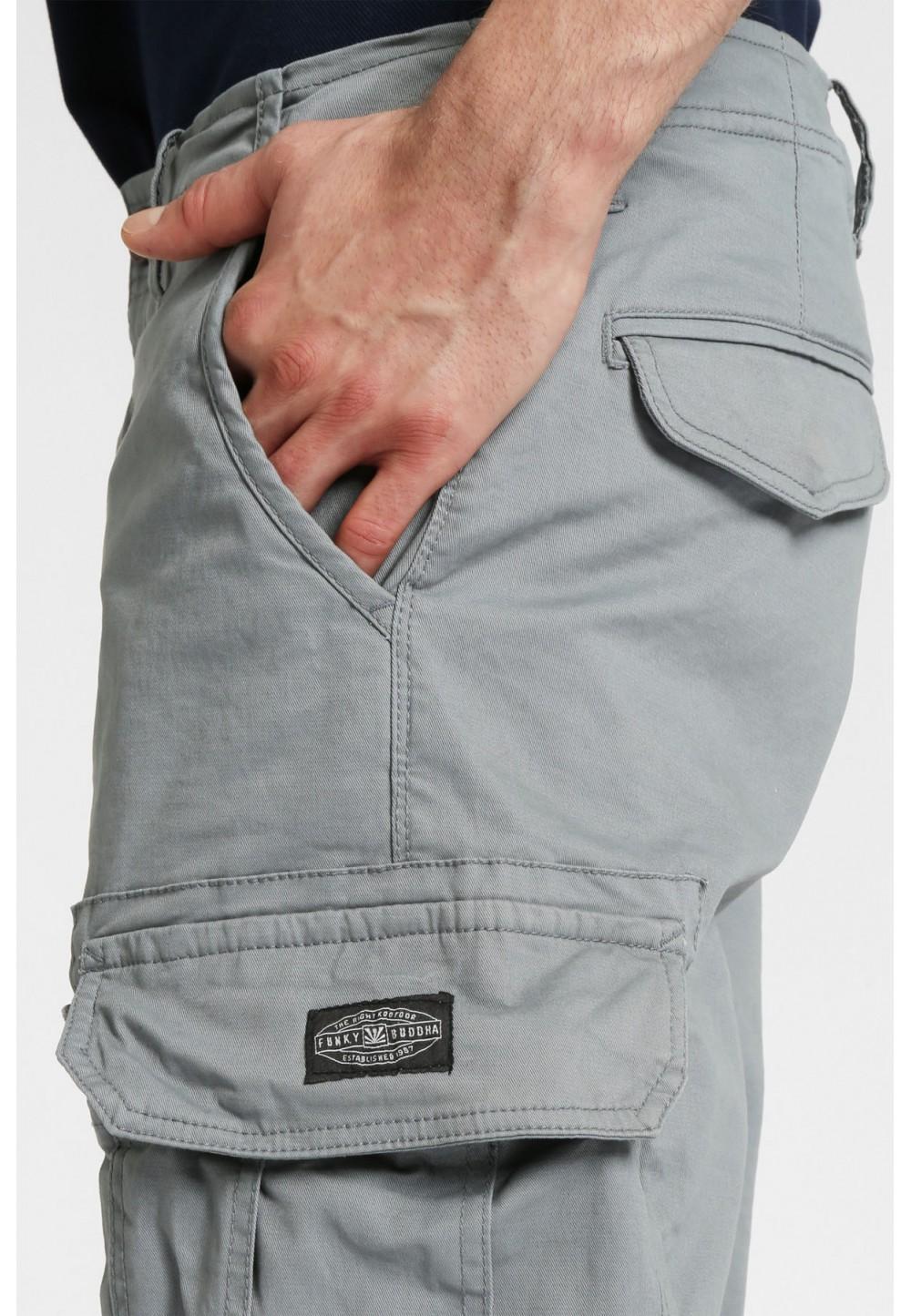 Шорты серые с карманами