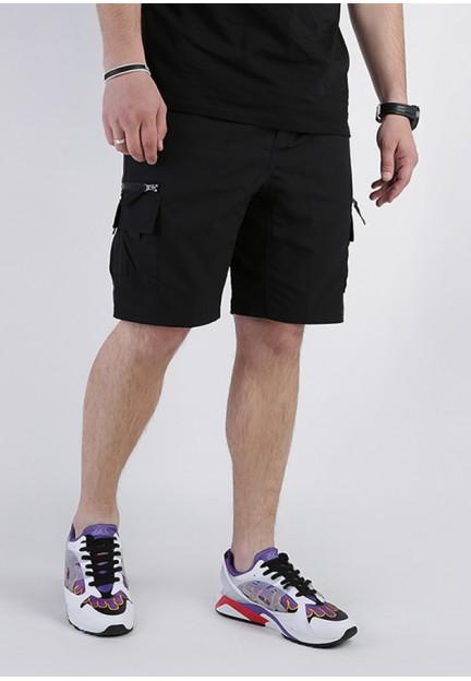 Черные шорты с накладными карманами