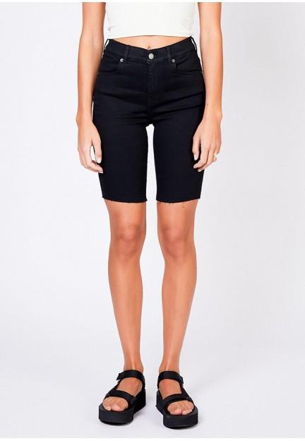 Черные женские шорты до колен