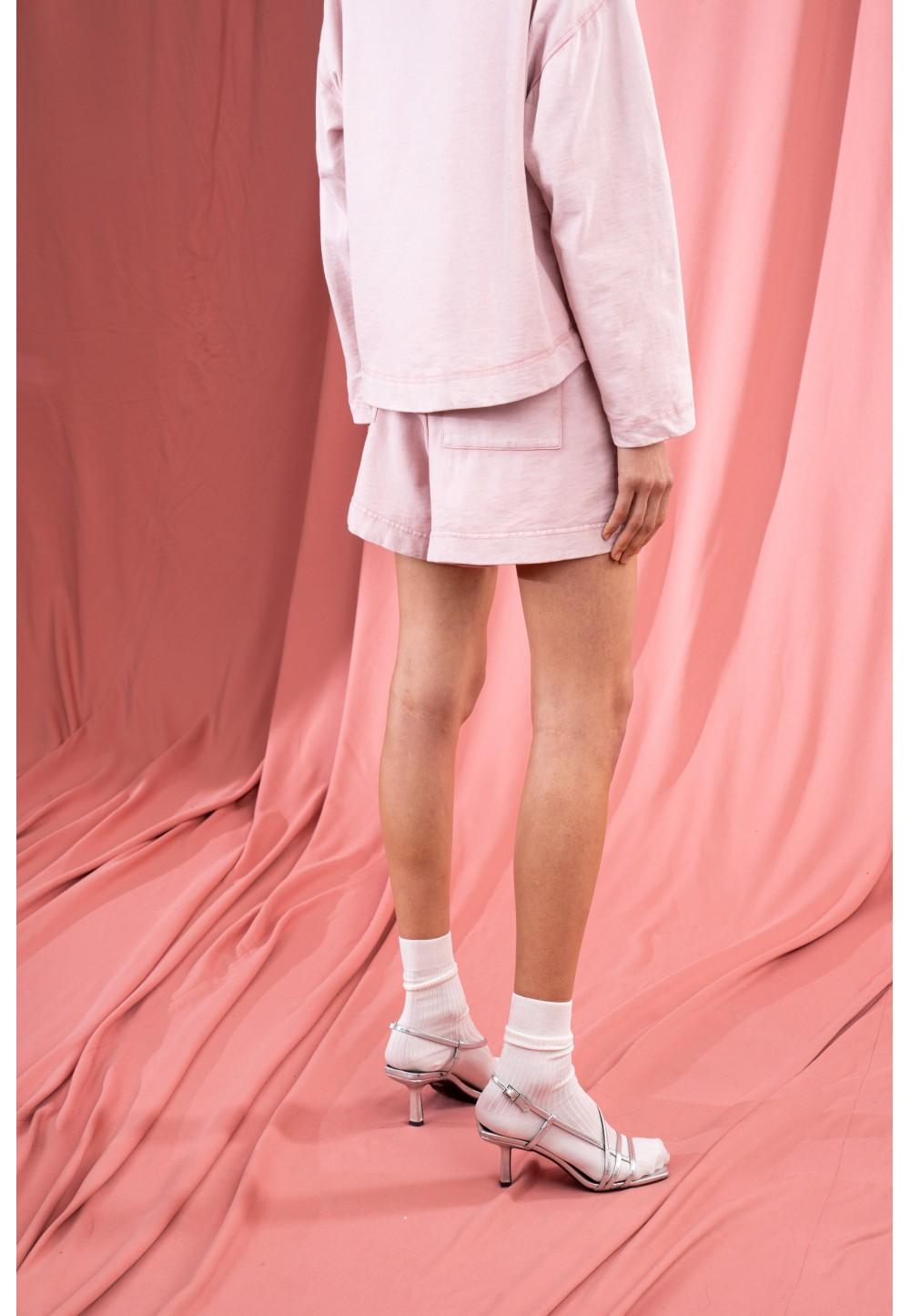Розовые трикотажные шорты LOVIN