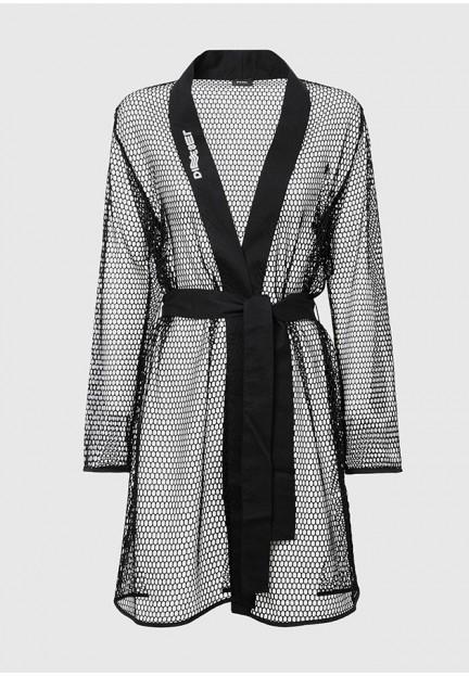 Пляжное кимоно из сетки
