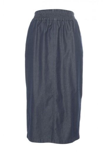 Синяя юбка с эластичным поясом