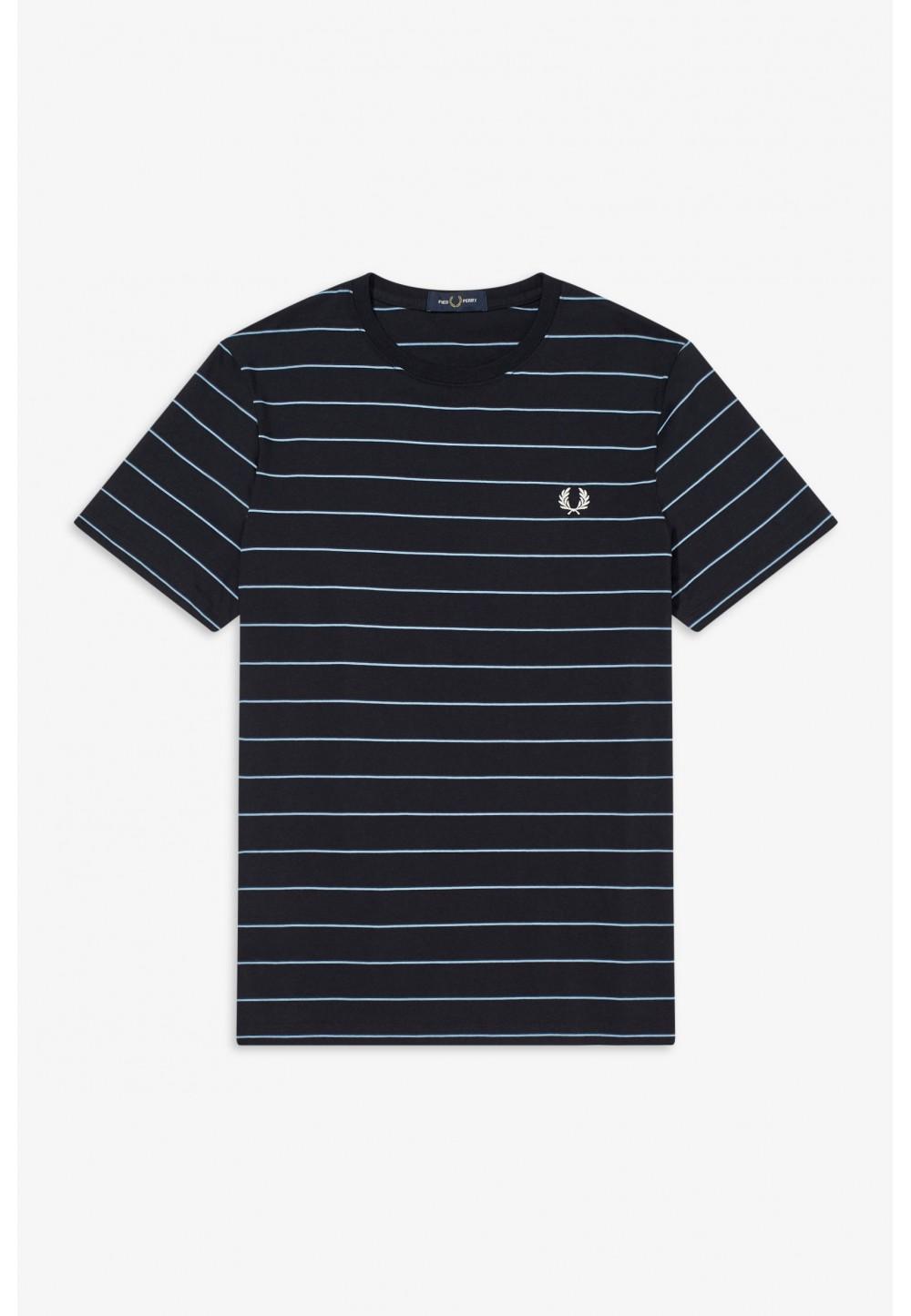 Синяя футболка striped