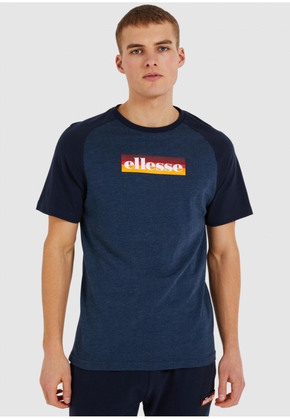 Синя чоловіча футболка з логотипом спередi