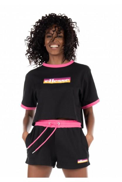 Укороченная футболка с ярким логотипом