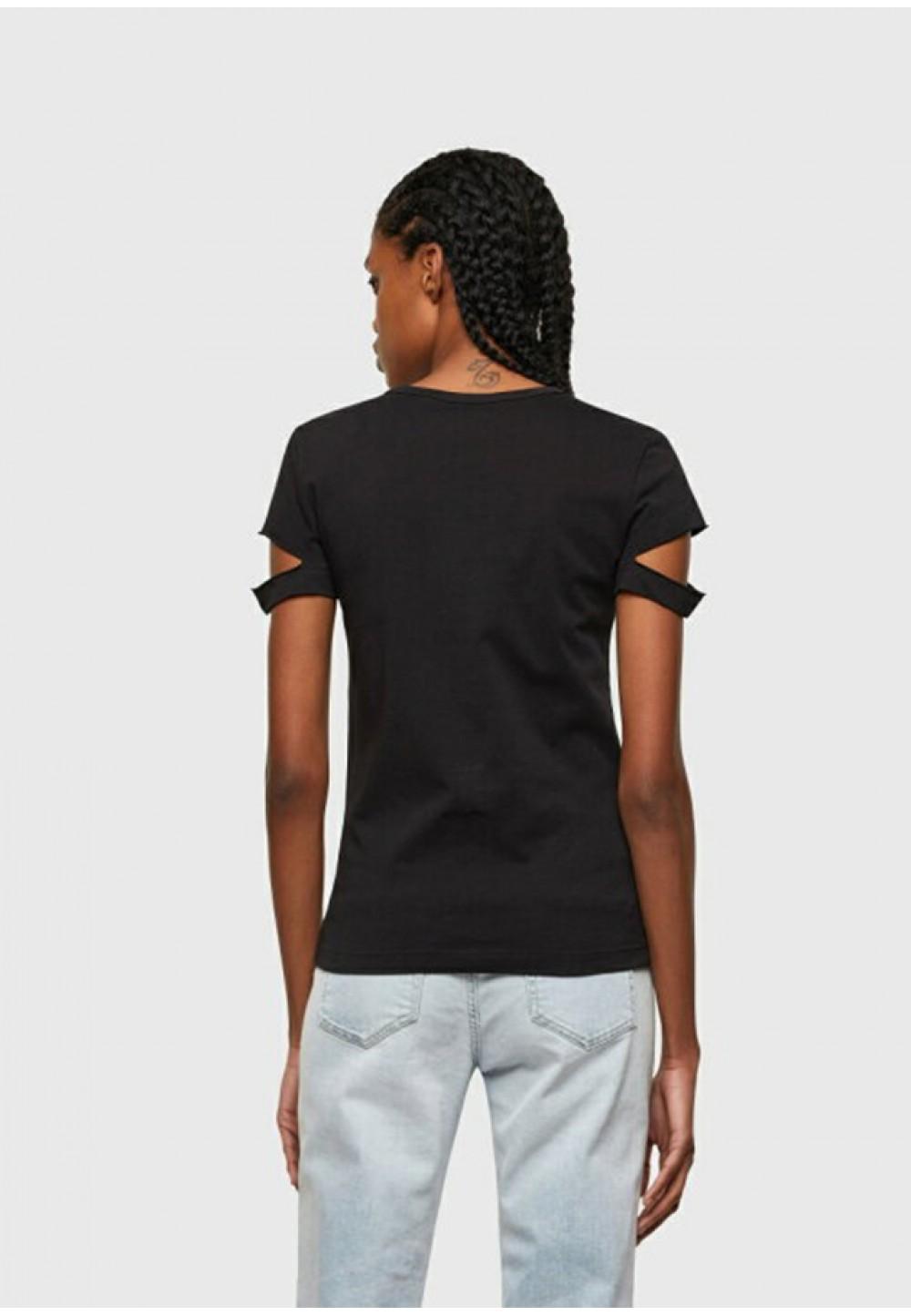 Ультрамодна бавовняна футболка з розрізами