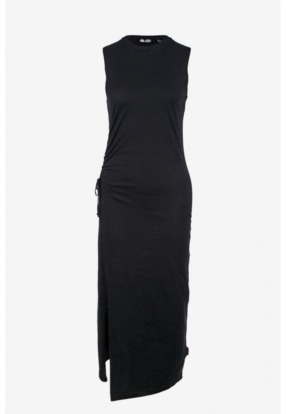 Платье миди без рукавов