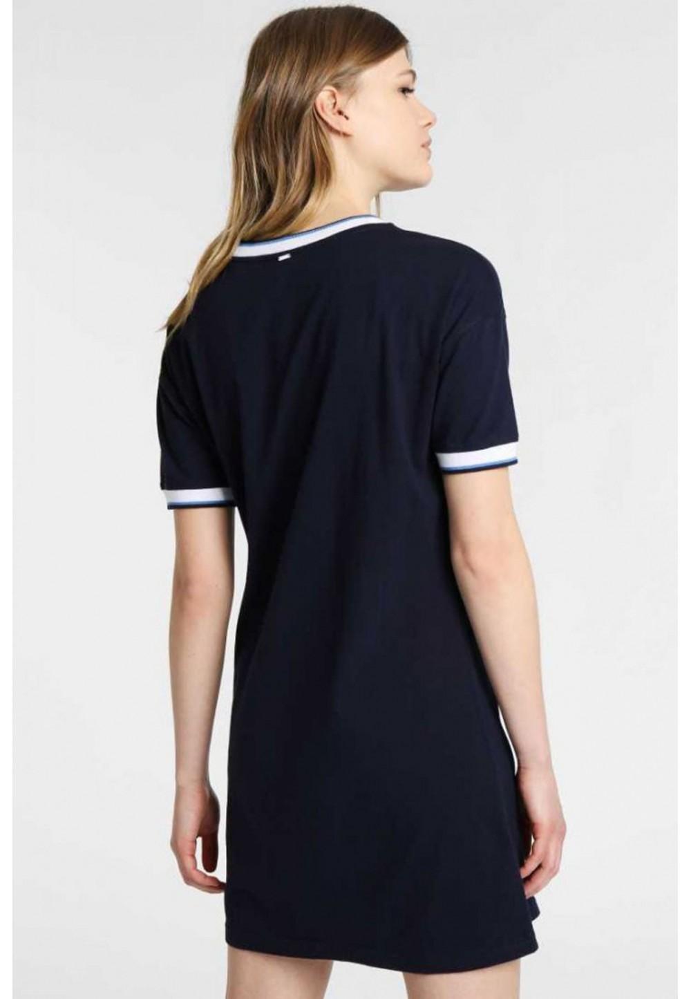Платье мини темно-синее